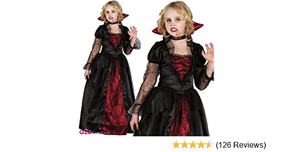 68db811d7a14 GIRLS VAMPIRE PRINCESS HALLOWEEN OUTFIT - (RED