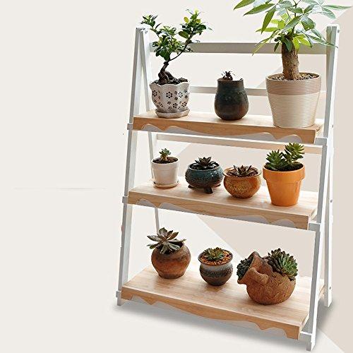 BOBE Shop- Blumenständer Holzboden Wohnzimmer Mehrschicht - Klappblumen Rahmen Balkon Blumentopf Rack