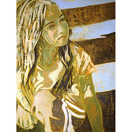 Doppelganger33 LTD Painting Vari Roma Girl Large Wall Art Large Art Print Poster Wall Decor 18x24 inch