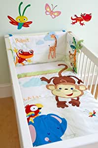 fisher price bettw sche set f r kinderbett motiv rainforest k che haushalt. Black Bedroom Furniture Sets. Home Design Ideas