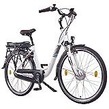 Vélo électrique NCM Munich N8C 36V - 28pouces - Pour homme & femme - Unisexe - Pedelec - E-Bike - Vélo de ville électrique - Rétropédalage - Moteur avant 250W - Batterie lithium-ion 13Ah 468Wh, DE248TR3SF707LB+W3614P9516, Weiß N7C