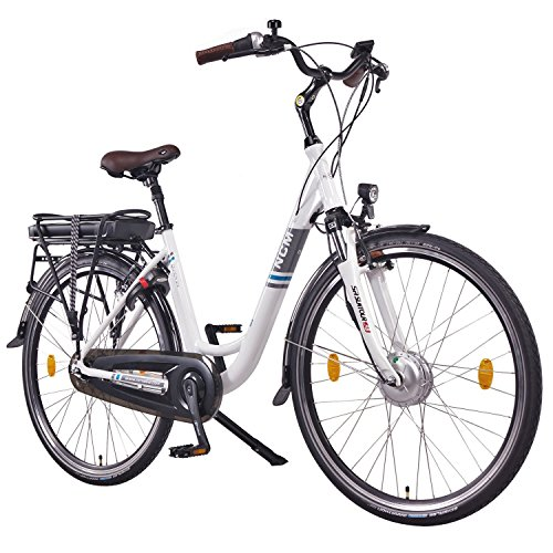 """NCM Munich N7C,28"""" Zoll Elektrofahrrad Herren/Damen Unisex Pedelec,E-Bike,City Elektrofahrrad mit Rücktrittbremse, 36V 250W 14Ah Lithium-Ionen-Akku mit 504Wh PANASONIC Zellen, weiß"""