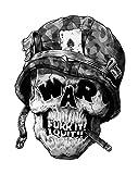 Unbekannt Against War Skull Aufkleber Sticker Frieden Peace ca. 12x8 cm Gegen Krieg Autoaufkleber Cool