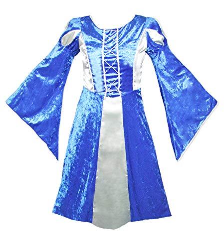 Burgfräulein Prinzessin Helena Blau Silber Gr. 140 - 5