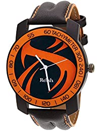 Relish-572 Stylish Orange & Black Case Analog Watches For Mens & Boys