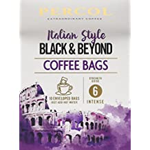 Percol Italian Style Black and Beyond Coffee Bags, 80 g, Pack of 3