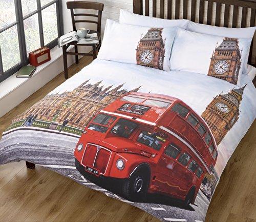 Bus de Londres Multi Housse de Couette King Size