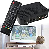 Hanbaili Convertidor de TV digital, (Enchufe de EE. UU.) AV HDMI HD Video Audio TV Box DVB-T2 F9 Receptor de señal digital Set Top Box