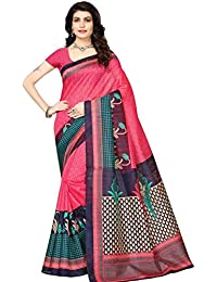Fabwomen Cotton Silk Saree With Blouse Piece (great indian sale women sarees_Gajri_Free Size)