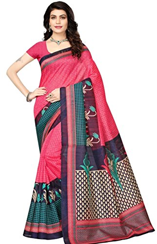 Fabwomen Cotton Silk Saree With Blouse Piece (great indian sale women sarees!_Gajri!_Free Size)