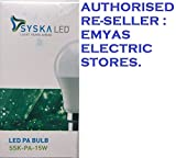 SYSKA LED 15W B22 6500K = COOL DAY LIGHT = CRYSTAL WHITE [LED PA BULB] [SSK - PA - 15W] [AUTHORISED RE-SELLER : EMYAS ELECTRIC STORES] [PACK OF ONE]