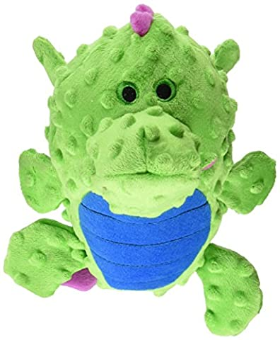 goDog Dragons Grunters Plush Dog Toy with Chew Guard Technology, Large, Green