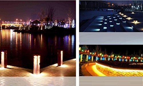 HAGDS LED Outdoor Eckleuchten Buried Lights 6W Wand Fuß Lampe Buried Lichter Embedded Treppen Park Treppen Lichter ZXCV (Farbe : Warm White, Leistung : 3w)