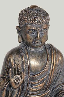 Jänig 10856 Buddha, Höhe 15 cm, kupferfarben von Jänig bei Du und dein Garten