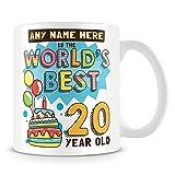Tazza di caffè, 20th Birthday Gift for Men personalizzato in ceramica Coffee Cup, 311,8gram, bianco