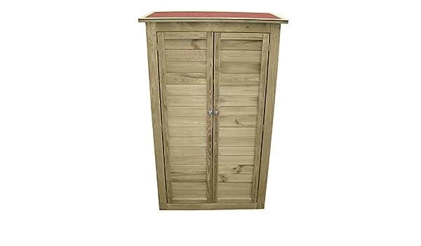 Credenza Legno Da Esterno : Evergreen armadietto mobile in legno impregnato per attrezzi