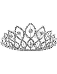 Diadème Couronne de Mariée Bijoux de Cheveux en Strass Tiare Décor