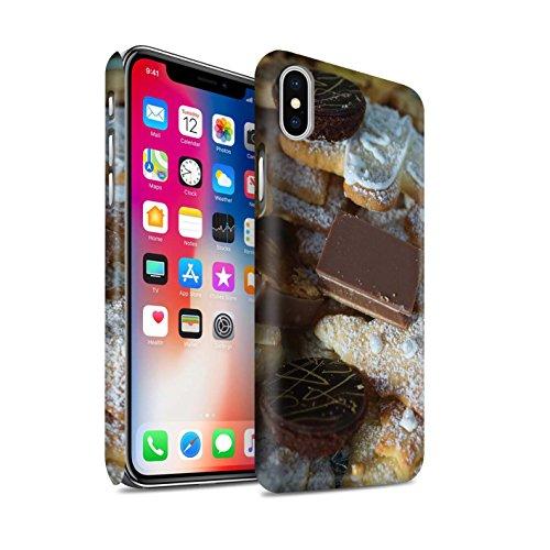 STUFF4 Matte Snap-On Hülle / Case für Apple iPhone X/10 / Kekse/Plätzchen Muster / Weihnachten Essen Kollektion Dessert