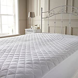 Bedding Care Uk Quilted Mattress Protector Cover Extra Deep 16inches 40cm Fabric Skirt All Uk Sizes Single,Small Double,Super King,4ft,Three Quarter
