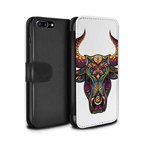 Stuff4 Coque/Etui/Housse Cuir PU Case/Cover pour Apple iPhone 4/4S / Taureau Design / Animaux décoratifs Collection Taureau