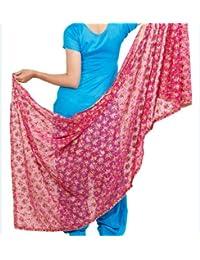 Phulakri Dupatta Beautiful Elegant Designer Phulkari Dupatta In Chiffon Fabric In Megenta Pink Colour - Phulkari...
