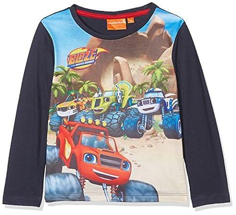 Sun-City Boy's Blaze Racing Tricks T-Shirt, Blue, 5-6 Years (Manufacturer Size: 6 Years)