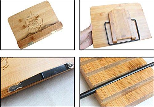 DFHHG® Stand de Libro de Bambú 28 * 20.5 Cm Estantes de Lectura Marco de Lectura Material Escolar Estudiante durable
