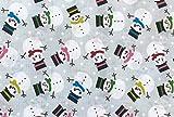 Oddies Textile-Polycotton Stoff – Schneemänner auf
