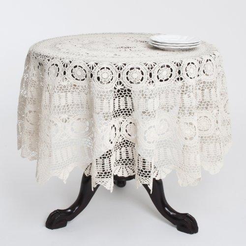 Fennco Styles Handgefertigt Crochet Spitze Baumwolle Tischdecke 36