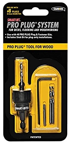 Smart-Bit Pro Plug System Countersink Drill Bit Tool for Wood Decks, Flooring, and Woodworking by Pro Plug System for Wood