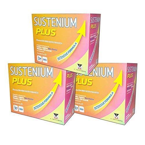 3X SUSTENIUM PLUS INTENSIVE FORMULA - Integratore Alimentare Energetico - 66 BUSTINE TOTALI