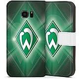 Samsung Galaxy S7 Edge Tasche Hülle Flip Case Werder Bremen Fanartikel SV Fußball