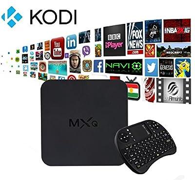 [Free Wireless Mini keyboard] MXQ Quad Core Android 4.4 Jailbroken TV Box Fully Loaded XBMC Kodi Mini PC WiFi Multimedia player Amlogic S805 1GB RAM 8GB ROM