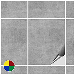 FoLIESEN Fliesenaufkleber 20x25 cm - Fliesen-Folie Bad - Klebefolie Küche - 80 Klebefliesen, Dekor Greydi