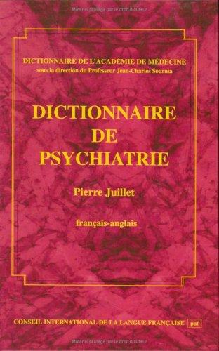 Dictionnaire de psychiatrie français-anglais