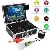 CHINVSHI Cámara subacuática HD para buscadores de Peces de 9 Pulgadas Monitor LCD IP68 a Prueba de Agua (30M)