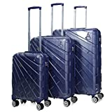 Aerolite Suitcase, 73 cm, 116 Liters, Blue