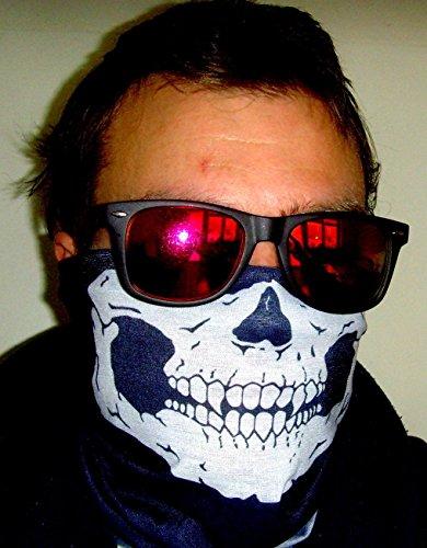 Multifunktionstuch Totenkopf Halstuch Skull Snowboard Ski Tuch Biker Gangster Bandana