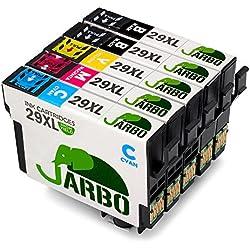 JARBO Compatible Epson 29 XL Cartuchos de tinta (2 Negro,1 Cian,1 Magenta,1 Amarillo) álta capacidad Compatible con Epson Expression Home XP-332 XP-335 XP-235 XP-432 XP-435 XP-245 XP-247 XP-342 XP-345 XP-442 XP-445 XP-330 XP-430