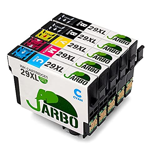 JARBO Kompatibel Epson 29XL Tintenpatronen mit Dem Neuesten Aktualisierten Chip Kompatibel für Epson Expression Home XP-332 XP-335 XP-235 XP-432 XP-435 XP-245 XP-247 XP-342 XP-345 XP-442 XP-445 (2 Schwarz,1 Cyan,1 Magenta,1