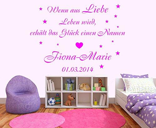 Preisvergleich Produktbild Wandtattoo - Wenn aus Liebe Leben wird - 82x59cm - Wandaufkleber Wandsticker Kinderzimmer Baby Melis-Folienwerkstatt W87
