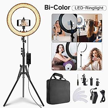 CRAPHY 18'' LED Ring Light 48W 4800mAh dimmbar 3200K-5600K Kit Light Stander EU
