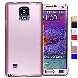 COOVY Funda para Samsung Galaxy Note 4 SM-N910 / SM-N910F / SM-N9100 360 Grados, Carcasa Ultrafina y Ligera, con Protector de Pantalla, protección de Cuerpo Completo | Color Oro Rosa