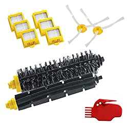 Tonsee 1 x Borsten und Schläger Pinsel Set + 6 x Gelb Hepa Filter für Irobot Roomba 700er Serie Hepa Nachschub Kit 760 770 780 790 Artikel