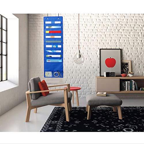 Hängende Datei Ordner Organizer mit 10 Taschen 5 Kleiderbügel Cascading Wall Organizer Perfekt für Klassenzimmer zu Hause oder im Büro Wand oder über der Tür zu montieren