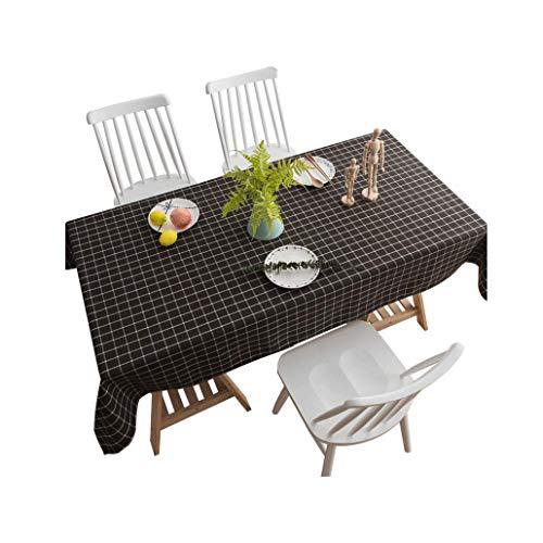 Nappes, Coton imperméable rectangulaire à Carreaux Noir et Blanc et nappes en Lin Table Basse, Taille Multifonction en Option (Taille : 60x60cm)