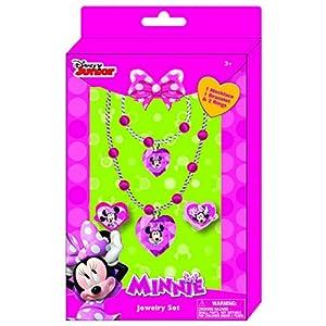 Joy Toy 71270Minnie Halskette/Armband und Zwei Ringe Schmuck-Set in Geschenkverpackung