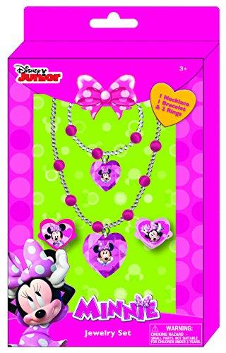Joy toy 71270minnie collana/bracciale e due anelli gioielli set in confezione regalo