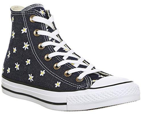 Converse Ctas Hi, Sneaker a Collo Alto Donna Blu (Navy/Fresh Yellow/White)