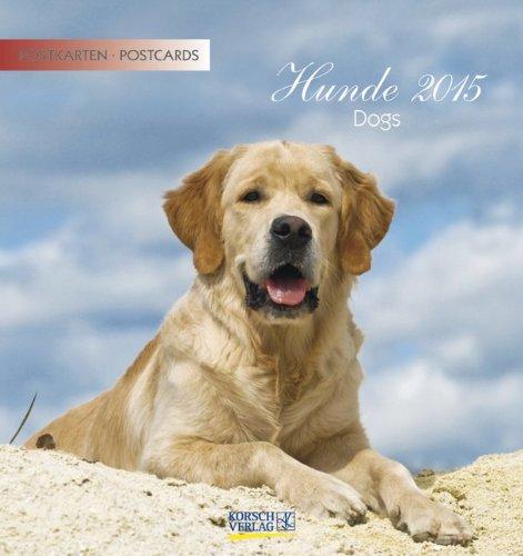 Hunde 2015: aufstellbarer Postkartenkalender